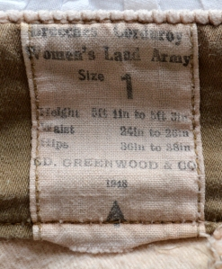 Breeches - label