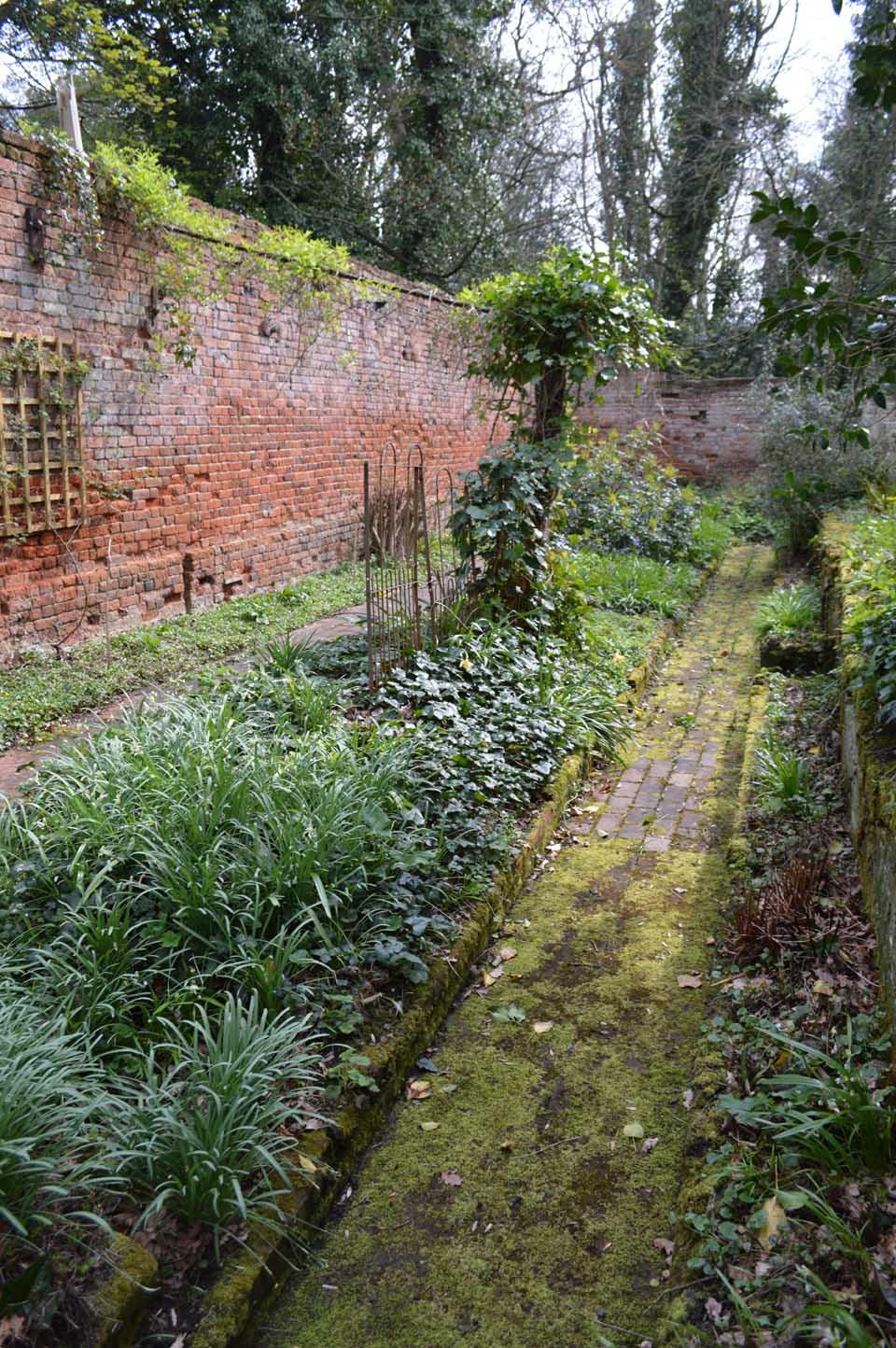 low sunken garden