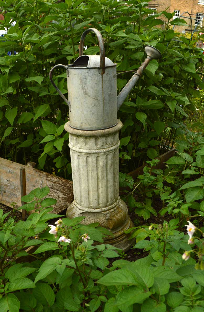 watering can on a plinth